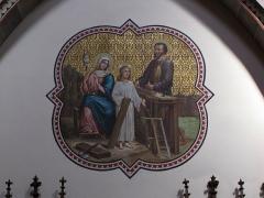 Eglise catholique Notre-Dame -  Alsace, Bas-Rhin, Église Notre-Dame de l'Assomption de Bernardswiller (PA00084612, IA00023770).   Fresque dans le chœur
