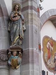 Eglise catholique Notre-Dame -  Alsace, Bas-Rhin, Église Notre-Dame de l'Assomption de Bernardswiller (PA00084612, IA00023770).   Statue