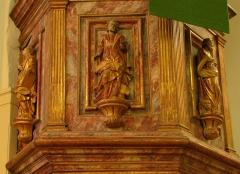 Eglise protestante -  Alsace, Bas-Rhin, Église protestante de Notre Seigneur Jésus-Christ de Bischheim (PA00084621).  Chaire baroque (1789).