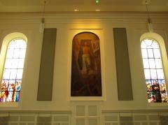 Eglise protestante -  Alsace, Bas-Rhin, Église protestante de Notre Seigneur Jésus-Christ de Bischheim (PA00084621).  Peinture