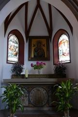 Couvent de Bischenberg (église catholique Notre-Dame) -  Alsace, Bas-Rhin, Bischoffsheim, Couvent de Bischenberg (PA00084622, IA00075456).  Chapelle Notre-Dame-des Sept-Douleurs: Chapelle Notre-Dame-du-Bon-Secours, attenante à la nef.