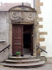 Couvent de Bischenberg (église catholique Notre-Dame) -  Alsace, Bas-Rhin, Bischoffsheim, Couvent de Bischenberg (PA00084622, IA00075456).  Portail d'entrée du couvent (1850).