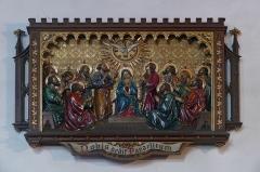 Couvent de Bischenberg (église catholique Notre-Dame) -  Alsace, Bas-Rhin, Bischoffsheim, Couvent de Bischenberg (PA00084622, IA00075456).  Chapelle Notre-Dame-des Sept-Douleurs:Bas-relief