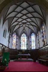 Couvent de Bischenberg (église catholique Notre-Dame) -  Alsace, Bas-Rhin, Bischoffsheim, Couvent de Bischenberg (PA00084622, IA00075456).  Chapelle Notre-Dame-des Sept-Douleurs: Chœur gothique construit entre 1506 et 1541.