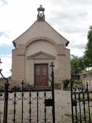 Couvent de Bischenberg (église catholique Notre-Dame) -  Alsace, Bas-Rhin, Bischoffsheim, Couvent de Bischenberg (PA00084622, IA00075456).  Chapelle Sainte-Cécile du cimetière des frères.