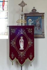 Eglise catholique des Saints-Innocents - Français:   Alsace, Bas-Rhin, Église des Saints-Innocents de Blienschwiller (PA00084626, IA00115160).  Bannière de procession \