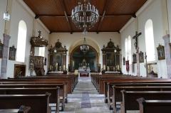 Eglise catholique des Saints-Innocents - Français:   Alsace, Bas-Rhin, Église des Saints-Innocents de Blienschwiller (PA00084626, IA00115160).  Vue intérieure de la nef vers le chœur.