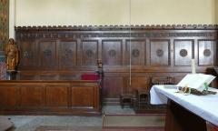 Eglise catholique des Saints-Innocents - Français:   Alsace, Bas-Rhin, Église des Saints-Innocents de Blienschwiller (PA00084626, IA00115160).  Stalles du chœur.