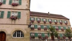 Hôtel de ville -  Alsace, Bas-Rhin, Boersch, Hôtel de ville (XVIe) et École primaire (XVIIe), 1 rue du Rempart (PA00084631, IA00075463).