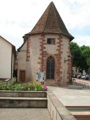 Ancienne chapelle castrale Saint-Georges et halle aux blés - Français:   chapelle de Bouxwiller 67 france