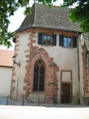 Ancienne chapelle castrale Saint-Georges et halle aux blés - Français:   chapelle de Bouxwiller (67) France.