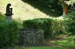 Jardin de l'Hôpital - Français:   Alsace, Bas-Rhin, Bouxwiller, Jardin de l'hôpital (XVIIIe), 3 rue du Canal (PA00084647, IA67009588).  Fontaine du château dite des Romains (XVIIIe):          This building is inscrit au titre des monuments historiques de la France. It is indexed in the base Mérimée, a database of architectural heritage maintained by the French Ministry of Culture,under the reference IA67009753 .  беларуская (тарашкевіца)| বাংলা| brezhoneg| català| Deutsch| Ελληνικά| English| Esperanto| español| euskara| suomi| français| magyar| italiano| 日本語| македонски| Nederlands| português| português do Brasil| română| русский| sicilianu| svenska| українська| العربيَّة| +/−  Statue de lion (XVIe-XVIIe):       This object is indexed in the base Palissy, database of the French furniture patrimony of the French ministry of culture,under the referenceIM67014031. беларуская (тарашкевіца)| brezhoneg| català| Deutsch| English| español| suomi| français| magyar| italiano| македонски| Plattdüütsch| português| українська| +/−