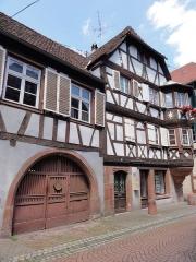 Maison - Français:   Alsace, Bas-Rhin, Bouxwiller, Maison d\'écoutète puis de receveur ecclésiastique (1598), 18 rue du Canal (PA00084648, IA67009604).