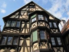 Maison - Français:   Alsace, Bas-Rhin, Bouxwiller, Maison de cordier dite maison Pflüger (1667), 29 Grand\'Rue (PA00084650, IA67009634).
