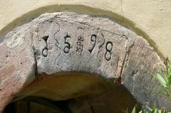 Maison - Français:   Alsace, Bas-Rhin, Bouxwiller, Maison dite maison des Gremp de Freudenstein (XVIe-XVIIe), 6-8 rue des Juifs (PA00084653, IA67009652).