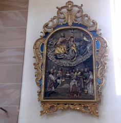 Eglise catholique Saint-Georges - Alsace, Bas-Rhin, Église Saint-Georges de Châtenois (PA00084665, IA00124434).  Bas-relief