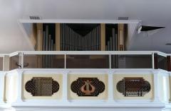 Eglise catholique Saint-Laurent - Alsace, Bas-Rhin, Église Saint-Laurent de Dieffenbach-au-Val (PA00084692, IA67010431).  Orgue Kriess-Schwenkedel (1933-1961):http://decouverte.orgue.free.fr/orgues/Orgue St-Laurent, Dieffenbach-au-Val