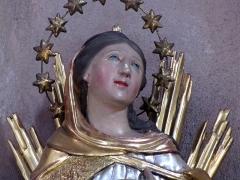 Eglise Sainte-Trophime et quatre statues en bois sculptées - Alsace, Bas-Rhin, Église Saint-Trophime d'Eschau (PA00084707, IA00023089).  Immaculée Conception (XVIIIe):     This object is indexed in the base Palissy, database of the French furniture patrimony of the French ministry of culture,under the referenceIM67000124. brezhoneg| català| Deutsch| English| español| français| italiano| magyar| македонски| Plattdüütsch| português| suomi| +/−