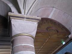 Eglise Saint-Georges - Alsace, Bas-Rhin, Église Saint-Georges de Haguenau (PA00084724, IA00061901). Chapiteau roman de la nef.