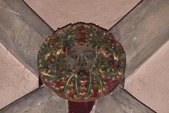 Eglise Saint-Nicolas - Alsace, Bas-Rhin, Église Saint-Nicolas de Haguenau, (Ancienne église du Couvent des Prémontrés) (PA00084725, IA00061903). Clé de voûte néo-gothique.