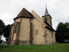 Eglise simultanée Saint-Jean-Baptiste de Hohwiller -  Alsace, Bas-Rhin, Soultz-sous-Forêts, Église simultanée Saint Jean-Baptiste de Hohwiller (PA00084752, IA00119010).