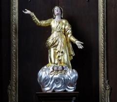Eglise catholique Saint-Jacques-le-majeur - Alsace, Bas-Rhin, Église Saint-Jacques-le-Majeur de Kuttolsheim (PA00084766, IA67006341).  Autel secondaire avec statue