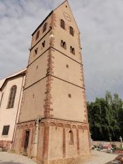 Eglise catholique Saint-Jacques-le-majeur - Alsace, Bas-Rhin, Église Saint-Jacques-le-Majeur de Kuttolsheim (PA00084766, IA67006341).