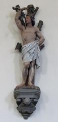 Eglise catholique Saint-Jacques-le-majeur - Alsace, Bas-Rhin, Église Saint-Jacques-le-Majeur de Kuttolsheim (PA00084766, IA67006341).  Statue de Saint Sébastien (XIXe):      This object is indexed in the base Palissy, database of the French furniture patrimony of the French ministry of culture,under the referenceIM67010129. brezhoneg| català| Deutsch| English| español| français| italiano| magyar| македонски| Plattdüütsch| português| suomi| +/−