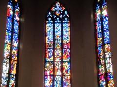 Eglise catholique de la Trinité - Alsace, Bas-Rhin, Église de la Sainte-Trinité de Lauterbourg (PA00084770, IA67008823). Verrières du chœur
