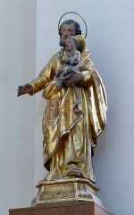 Eglise catholique de la Trinité - Alsace, Bas-Rhin, Église de la Sainte-Trinité de Lauterbourg (PA00084770, IA67008823).  Statue de St-Joseph et de l'enfant Jésus (XIXe):       This object is indexed in the base Palissy, database of the French furniture patrimony of the French ministry of culture, under the reference IM67014423. brezhoneg | català | Deutsch | English | español | français | italiano | magyar | македонски | Plattdüütsch | português | suomi | +/−