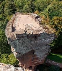 Ruines du château de Fleckenstein - English: