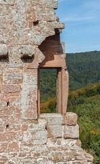 Ruines du château de Fleckenstein - English: Window at the Palas, Fleckenstein castle near Lembach, Bas-Rhin department, France