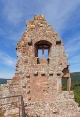 Ruines du château de Fleckenstein - English: Wall of the Palas, Fleckenstein castle near Lembach, Bas-Rhin department, France