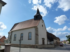 Eglise catholique Saint-Laurent - This building is indexed in the Base Mérimée, a database of architectural heritage maintained by the French Ministry of Culture,under the references IA67005864   and PA00084779 .
