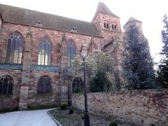 Ancienne abbaye bénédictine - Français:   Alsace, Bas-Rhin, Abbatiale Saint-Étienne de Marmoutier (PA00084783, IA67007715). Nef côté Nord.