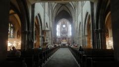 Ancienne abbaye bénédictine - Français:   Alsace, Bas-Rhin, Abbatiale Saint-Étienne de Marmoutier (PA00084783, IA67007715). Vue intérieure de la nef.