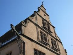 Grandes Boucheries - Français:   Alsace, Bas-Rhin, Molsheim, Ancien siège de corporation des bouchers dit Metzig (1607), place de l\'Hôtel-de-Ville (PA00084794, IA67006169).  Gargouille Renaissance (XVIIe-XVIIIe):       This object is indexed in the base Palissy, database of the French furniture patrimony of the French ministry of culture,under the referenceIM67009730. беларуская (тарашкевіца)| brezhoneg| català| Deutsch| English| español| suomi| français| magyar| italiano| македонски| Plattdüütsch| português| українська| +/−
