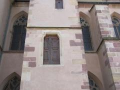 Ancienne église des Jésuites, ou église catholique Saint-Georges - Français:   Alsace, Bas-Rhin, Église Saint-Georges de Molsheim, ancienne église des Jésuites (1618) (PA00084798, IA67006097). Porte extérieure d\'accès au niveau supérieur.