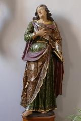 Ancienne église des Jésuites, ou église catholique Saint-Georges - Alsace, Bas-Rhin, Église Saint-Georges de Molsheim, ancienne église des Jésuites (1618) (PA00084798, IA67006097). Calvaire: statue de Saint-Jean (XVIIIe). Template:Palissy-type=classé-PM67000757-IM67009681