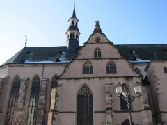 Ancienne église des Jésuites, ou église catholique Saint-Georges - Alsace, Bas-Rhin, Église Saint-Georges de Molsheim, ancienne église des Jésuites (1618) (PA00084798, IA67006097).