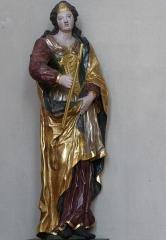Ancienne église des Jésuites, ou église catholique Saint-Georges - Alsace, Bas-Rhin, Église Saint-Georges de Molsheim, ancienne église des Jésuites (1618) (PA00084798, IA67006097).  Statue de Sainte Apollonie (XVIIIe):       This object is classé Monument Historique in the base Palissy, database of the French furniture patrimony of the French ministry of culture,under the referencesPM67000755 and IM67009675. brezhoneg| català| Deutsch| English| español| français| italiano| magyar| македонски| Plattdüütsch| português| suomi| +/−