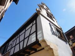 Maison - Français:   Alsace, Bas-Rhin, Molsheim, Maison (1618), 1A et 1B rue de l\'Église (PA00084800, IA67006120).