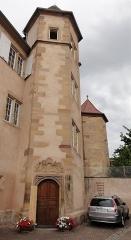 Maison - Français:   Alsace, Bas-Rhin, Molsheim, Maison de chanoine (1628), 16-18 rue Jenner (PA00084801, IA67006133).