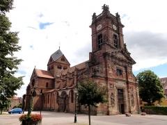 Ancienne abbaye bénédictine -  Alsace, Bas-Rhin, Neuwiller-lès-Saverne, Église abbatiale Saints-Pierre et Paul (PA00084820, IA67009917.