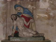 Ancienne abbaye bénédictine -  Alsace, Bas-Rhin, Neuwiller-lès-Saverne, Église abbatiale Saints-Pierre et Paul (PA00084820, IA67009917: Vierge de Pitié (? XIXe).