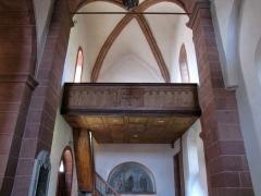 Eglise Saint-Adelphe -  Alsace, Bas-Rhin, Neuwiller-lès-Saverne, Église protestante Saint-Adelphe (PA00084821, IA67009915): Tribune du transept nord.