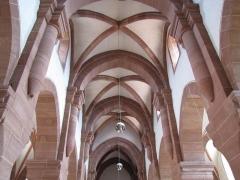 Eglise Saint-Adelphe -  Alsace, Bas-Rhin, Neuwiller-lès-Saverne, Église protestante Saint-Adelphe (PA00084821, IA67009915): Voûtes de la nef.
