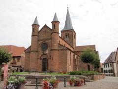 Eglise Saint-Adelphe -  Alsace, Bas-Rhin, Neuwiller-lès-Saverne, Église protestante Saint-Adelphe (PA00084821, IA67009915).