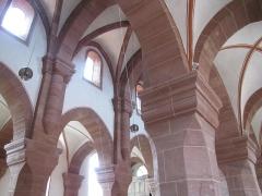 Eglise Saint-Adelphe -  Alsace, Bas-Rhin, Neuwiller-lès-Saverne, Église protestante Saint-Adelphe (PA00084821, IA67009915): Voûtes et croisées d'ogives.