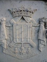 Monument du général Clarke - Français:   Armoirie du général Clarke, sur son monument funéraire de Neuwiller-lès-Saverne